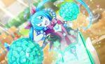 blue_eyes blue_hair dress hatsune_miku long_hair project_sekai smile twintails