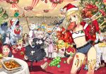 6+girls abigail_williams_(fate/grand_order) altera_(fate) arjuna_(fate/grand_order) artemis_(fate/grand_order) artoria_pendragon_(all) blonde_hair boned_meat braid cake caladbolg chacha_(fate/grand_order) christmas christmas_tree cleopatra_(fate/grand_order) commentary_request denim denim_shorts fate/apocrypha fate/extra fate/grand_order fate_(series) flagpole food fruit gae_bolg gift grapes hat hessian_(fate/grand_order) ibaraki_douji_(fate/grand_order) jack_the_ripper_(fate/apocrypha) jeanne_d'arc_(alter)_(fate) jeanne_d'arc_(fate)_(all) jeanne_d'arc_alter_santa_lily julius_caesar_(fate/grand_order) karna_(fate) lobo_(fate/grand_order) lobster long_hair macaron mash_kyrielight meat merry_christmas mordred_(fate) mordred_(fate)_(all) multiple_girls nero_claudius_(fate) nero_claudius_(fate)_(all) nursery_rhyme_(fate/extra) orion_(fate/grand_order) paul_bunyan_(fate/grand_order) ponytail rama_(fate/grand_order) redrop saber sandwich santa_alter santa_hat scathach_(fate)_(all) scathach_(fate/grand_order) shorts snowman strapless table tubetop white_hair