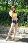 cosplay hisame_chirumi photo shorts sports_bra tagme_character tagme_series