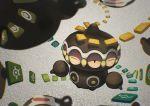 claydol floating guodon multiple_eyes no_humans pokemon pokemon_(creature) unown