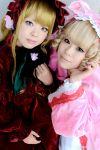 babydoll blonde_hair bloomers bonnet cosplay gown hair_bow hina_ichigo katakura_rin photo ribbons rozen_maiden shinku uni velvet