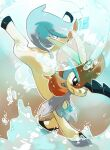 closed_mouth commentary creature english_commentary frown full_body gen_5_pokemon horns keldeo keldeo_(resolute) mythical_pokemon no_humans pinkgermy pokemon pokemon_(creature) serious single_horn solo water
