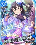 black_hair blush character_name closed_eyes dress idolmaster idolmaster_cinderella_girls long_hair smile stars sunazuka_akira