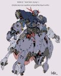 character_name floating grey_background gundam highres looking_ahead mecha mobile_suit_gundam no_humans one-eyed open_hands pink_eyes redesign shisaton. solo zeon zeong