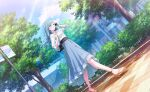 blue_hair brown_eyes dress hinomori_shizuku long_hair project_sekai