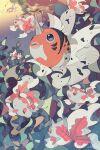 black_eyes fish gen_1_pokemon goldeen highres lemming_no_suana no_humans pokemon pokemon_(creature) seaking underwater