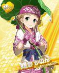 brown_hair character_name dress green_eyes headdress himeno_kanon idolmaster idolmaster_side-m short_hair smile