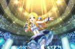 blonde_hair blush dress idolmaster_cinderella_girls_starlight_stage long_hair mochizuki_hijiri red_eyes smile