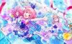 blush dress long_hair momoi_airi pink_eyes pink_hair project_sekai smile
