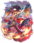 1boy barefoot_sandals blue_eyes blue_hair clenched_hands fire flaming_sword flaming_weapon glowing glowing_eyes gurren highres holding holding_sword holding_weapon kamina_(ttgl) looking_at_viewer looking_up male_focus mecha misossu orange_eyes sandals shiny sunglasses sword tengen_toppa_gurren_lagann v-shaped_eyebrows weapon
