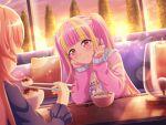 bang_dream! blush dress long_hair pareo_(bang_dream!) pink_eyes pink_hair smile twintails