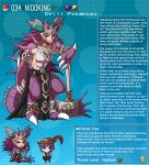 2boys animal_ears artist_name axe beard belt character_name claws crown english_commentary english_text facial_hair fangs gen_1_pokemon gorget hat highres horns kinkymation long_hair mars_symbol multiple_boys nidoking pelvic_curtain personification poke_ball pokemon profile purple_hair single_horn