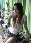 belt flower rola_chung shorts t-shirt