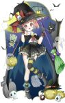 1600138709 boots capelet cloak gakkou_gurashi! gloves halloween highres miniskirt skirt takeya_yuki