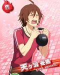 amagase_touma character_name closed_eyes idolmaster idolmaster_side-m redhead shirt short_hair
