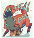 akadako full_body gen_5_pokemon no_humans number pokemon pokemon_(creature) scolipede shadow sparkle venipede
