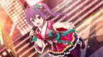 22/7 blush dress long_hair purple_hair smile toujou_yuki twintails violet_eyes
