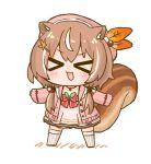 >_< 1girl :3 animal_ear_fluff animal_ears ayunda_risu blush brown_hair chibi closed_eyes hololive hololive_indonesia nekoyama open_mouth solo squirrel_ears squirrel_girl squirrel_tail tail twintails virtual_youtuber
