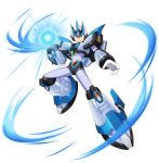 1boy alternate_color alternate_costume android arm_cannon armor forehead_jewel forehead_protector gem gloves green_eyes highres mizuno_keisuke official_alternate_costume official_art pauldrons plasma robot rockman rockman_x rockman_x_dive serious shoulder_armor shoulder_pads solo third-party_source transparent_background weapon white_armor x_(rockman)