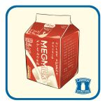 carton cup english_text food food_focus glass le_delicatessen milk milk_carton no_humans original simple_background still_life translation_request white_background