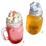 cream cup dessert drink food food_focus glass mug no_humans original simple_background still_life studiolg water white_background