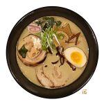 bowl egg food food_focus garnish hardboiled_egg meat no_humans noodles original ramen seaweed simple_background soup still_life studiolg vegetable white_background