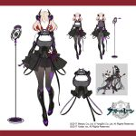 2girls absurdly_long_hair armored_boots azur_lane black_choker black_corset black_hair black_skirt boots breasts byulzzi character_name choker cleavage_cutout clothing_cutout corset faceless hair_ornament headgear large_breasts light_brown_hair long_hair medium_hair microphone microphone_stand multicolored_hair multiple_girls multiple_views official_art pantyhose redhead roon_(azur_lane) roon_(muse)_(azur_lane) sketch skirt streaked_hair taihou_(azur_lane) taihou_(muse)_(azur_lane) two-tone_hair very_long_hair x_hair_ornament
