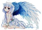 1girl angel angel_wings cute original ring sitting small_breasts