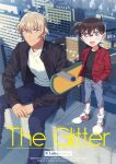 2boys :d amuro_tooru animal artist_name bangs bird black-framed_eyewear black_jacket black_shirt blonde_hair blue_eyes blue_pants brown_hair building buttons cardigan character_name child cityscape closed_mouth collared_shirt commentary_request cover cover_page day edogawa_conan english_text feet_out_of_frame fingernails glasses grey_shorts hair_between_eyes hand_in_pocket holding holding_skateboard jacket k_(gear_labo) long_sleeves looking_at_viewer meitantei_conan multiple_boys on_roof open_clothes open_mouth open_shirt outdoors own_hands_together pants red_shirt shirt shoes short_hair shorts sitting skateboard skyscraper smile sneakers standing white_cardigan