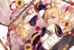1boy 1girl arm_warmers bangs bare_shoulders black_collar black_shorts blonde_hair blue_eyes bow casket closed_eyes collar commentary crop_top fetal_position finger_to_mouth flower hair_bow hair_ornament hairclip happy_birthday headphones highres index_finger_raised kagamine_len kagamine_rin leg_warmers looking_at_viewer mobumobu0817 nail_polish open_mouth petals pink_flower red_flower rose sailor_collar school_uniform shirt short_hair short_ponytail short_shorts short_sleeves shorts shushing sleeping sleeveless sleeveless_shirt spiky_hair sunflower swept_bangs vocaloid white_bow white_shirt yellow_nails