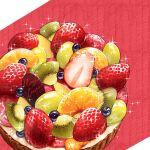 apple apple_slice blueberry cream dessert food food_focus fruit fruit_tart grapes kiwi_slice kiwifruit nagare750 no_humans orange orange_slice original pastry simple_background sparkle strawberry tart_(food)