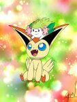 gen_4_pokemon gen_5_pokemon highres mythical_pokemon pokemon shaymin sinnoh unova victini