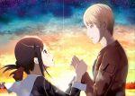 holding_hands kaguya-sama_wa_kokurasetai_~tensai-tachi_no_renai_zunousen~ shinomiya_kaguya shirogane_miyuki sunset