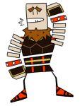 beard bone clothed dodontas facial_hair male_focus mario_(series) nintendo paper_mario skeleton undead