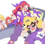captain_syrup chicken_rib highres mario princess_peach redhead tags: wario wario_land