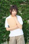 cosplay mai_hime orange_hair photo shorts sketchbook tagme_model tokiha_takumi t-shirt