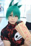 chinadress cosplay garters green_hair katou_mari photo qipao shaman_king tao_jun