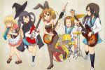 5girls akiyama_mio animal_ears asahina_mikuru asahina_mikuru_(cosplay) bunnysuit cape company_connection cosplay drum drum_set guitar hat hirasawa_yui hobunsha instrument k-on! kadokawa_shoten keyboard_(instrument) kotobuki_tsumugi kyoto_animation melodica multiple_girls nagato_yuki nagato_yuki_(cosplay) nakano_azusa nkopoyo rabbit_ears school_uniform serafuku studio_connection suzumiya_haruhi suzumiya_haruhi_(cosplay) suzumiya_haruhi_no_yuuutsu tainaka_ritsu tokyo_mx witch_hat