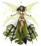 1girl alien apoloniodraws ben_10 breasts glitter high_heels highres insect_girl insect_wings lingerie multicolored_hair omnitrix piercing spikes stinger stinkfly underwear wings yellow_eyes