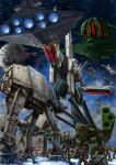 absurdres alien at-at at-at_walker at-st battle boddole_zer commentary commentary_request crossover daedalus_attack damaged death_star debris energy_cannon fleet flying galactic_empire glaug highres hoth huge_filesize macross macross:_do_you_remember_love? mecha military millenium_falcon missile_pod monster_destroid nousjadeul-ger nupetiet-vergnitzs phalanx_(destroid) power_armor prometheus_(ship) queadluun-rau quiltra-queleual regult robotech science_fiction sdf-1 snow snowspeeder space_craft space_station spartan_(destroid) star_destroyer star_wars t-65_x-wing thrusters tie_fighter tomahawk_(destroid) u.n._spacy variable_fighter vf-1 walker wreckage x-wing y-wing zandan_zero_to_na!? zentradi
