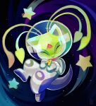 aisha_(neopets) astronaut bluumi commentary english_commentary facing_viewer full_body neopets signature solo space star_(sky) star_(symbol)