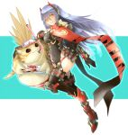 blue_hair breasts highres joints large_breasts leotard long_hair mechanical_parts poppi_(xenoblade) poppi_qtpi_(xenoblade) pyra_(xenoblade) robot robot_ears robot_joints scarf shiroxai tora_(xenoblade_2) xenoblade_chronicles_(series) xenoblade_chronicles_2