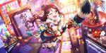 blush brown_eyes long_hair love_live!_school_idol_festival_all_stars new_year redhead sakurauchi_riko smile wink yukata