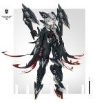 1girl absurdres android arms_at_sides donxxxs english_text full_body grey_hair hair_ornament hairclip headgear highres joints looking_at_viewer mecha_musume original robot_joints scar scar_across_eye sharp_teeth sign solo standing teeth two-tone_background warning_sign yellow_eyes