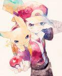1boy backpack bag baseball_cap brown_hair brown_pants closed_mouth gen_1_pokemon hand_on_headwear hat highres holding holding_poke_ball jacket male_focus orange_bag pants pikachu poke_ball poke_ball_(basic) pokemon pokemon_(creature) pokemon_(game) pokemon_frlg pokemon_on_arm red_(pokemon) rrrpct short_sleeves two-tone_headwear