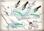 carriax character_name concept_art firing from_behind from_below missile missile_pod official_art production_art science_fiction space_craft super_robot_wars super_robot_wars_t tenjin_hidetaka vehicle_focus