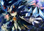 aimf black_sclera colored_sclera extra_eyes glowing glowing_eyes metal_overlord metal_sonic no_humans no_mouth red_eyes robot sharp_teeth sonic_heroes sonic_the_hedgehog teeth