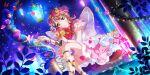 blush brown_eyes dress love_live!_school_idol_festival_all_stars pink_hair short_hair smile uehara_ayumu wings