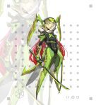 1girl absurdres armor arms_at_sides black_sclera breasts colored_sclera full_armor full_body helmet highres holding holding_sword holding_weapon insect_girl insect_wings jinyu_lao_honglingjin katana long_hair looking_at_viewer mantis_girl mask mecha_musume no_feet orange_eyes original praying_mantis redhead small_breasts solo standing sword very_long_hair weapon white_background wings