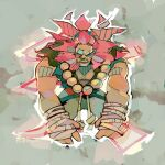 angry beads dougi gouki karate_gi lion_mane looking_at_viewer messy_hair michaelfirman prayer_beads redhead street_fighter tied_hair